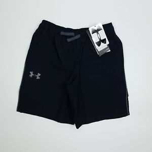Under Armour Youth Boys Heat Gear Shorts Loose Fit UK S L Black Logo Pockets
