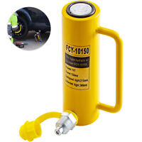 """Hydraulic Cylinder Jack 10T 6"""" Solid Straightening Single Acting Metal Lift"""