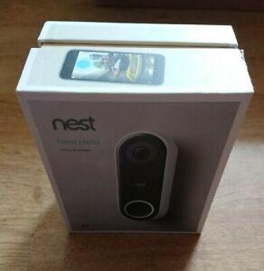 Nest NC5100GB Hello Video Doorbell - Black Open box