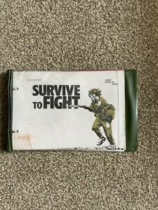 """BRITISH ARMY """" SURVIVE TO FIGHT"""" TRAINING MANUAL  BOOK  ARMY 1980s"""