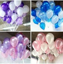 10-100 Pink Purple White Hot Pink Silver Pearl Balloons Ribbons Wedding Birthday