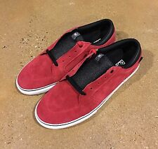 DVS Stafford Size 12 Red Suede BMX DC Skate Shoes Sneakers Deadstock