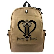 Kingdom Hearts brown anime Student bags unisexbag backpack Laptop Bag