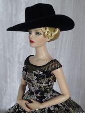 """Allfordoll STYLE COWBOY Black HAT for 16"""" Sydney Tonner Ficon FR Gene BJD Doll"""