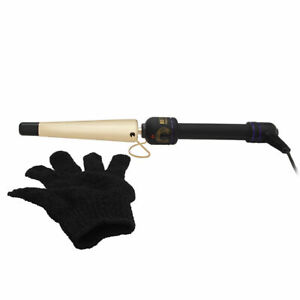 Hot Tools Professional 3/4 - 1 1/4 Inch 24K Gold Tapered Curling Iron - Large