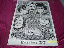 "J.Kolbeck 2004 Rock Poster ""Forever 27"" Cobain Morrison Hendrix Nirvana Joplin"