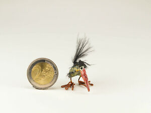 Mini Animal Chicken Hand Sculpted Miniature Bird Handmade Collectible Animal Pet