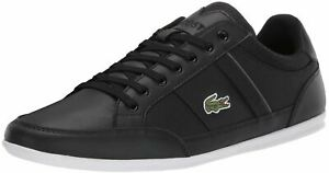 Lacoste Chaymon 219 Black Dark Grey Leather Mens Trainers Shoes