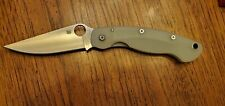 RARE SPYDERCO MILITARY C36GM4P, M4 Blade, Jade Green G10 Handle - NEW