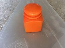 Boite pot récipient orange retro vintage