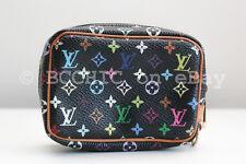100% authentic LOUIS VUITTON 'wapity' pouch multicolor black wristlet bag case