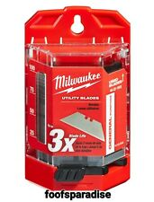 New Milwaukee Hand Tools 48-22-1900 Utility Razor Blades 100Pcs With Dispenser
