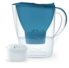 More details for  aqualogis harmony 2.6l water filter fridge jug with 1 filter cartridge - blue