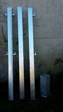 Galvanised Metal Field Yard Square POST. Good quality Security  Farm gate HEAVY