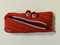 Zipit Monster Pen Pencil Bag Case Cosmetic Pouch Teeth Red Zippered Zip It