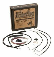 """Burly Brand B30-1032 - 13"""" Brake & Cable Line Kit for Harley-Davidson FLHX, FLHT"""