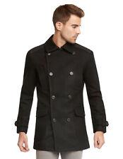 9 Crowns Men's Euro Slim Fit Wool Peacoat Winter Jacket