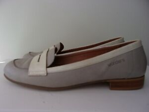Wonders size 7 (40) grey leather loafer shoes.