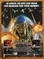 Galaga: Destination Earth GBA 2000 Vintage Game Poster Ad Art Print Nintendo