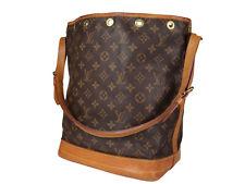 LOUIS VUITTON Noe GM Monogram Canvas Leather Drawstring Shoulder Bag LS3605