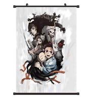 "Hot Anime Kimetsu no Yaiba Kamado Art Home decor Poster Wall Scroll 8""x12"" F321"