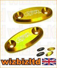 Espejos de color oro para motos Honda