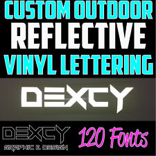 """2"""" White Custom Outdoor Reflective Vinyl Lettering Decal Sticker Car Window Sign"""