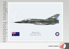 Warhead Illustrated Mirage IIID 3 Sq RAAF A3-103 Aircraft Print