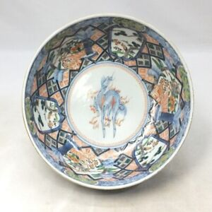 A849 Real Japanese OLD IMARI porcelain bowl with very good painting and coloring