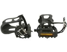"New! Bicycle Pedals W/Toe Clips 9/16"" Black."