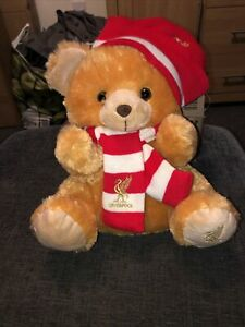 Offical  Liverpool Fc Teddy Bear. With Scarf & Hat