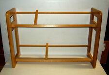 Solid Light Tone Wood 2 Tier Row Dowel Table Desktop Video Cd Rack