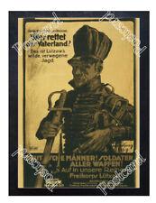Historic WWI German Poster  join Kreikorps Lützow Postcard