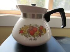Corning Ware Spice of Life 6 Cup Teapot Coffee Pot With Stainless Lid P-104