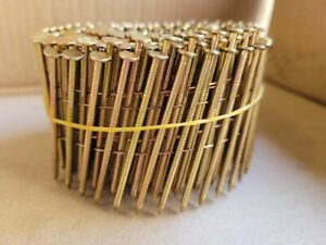 15 Degree Flat Wound Galvanised, Ring, Coil Nails - 2.5 x 65mm - 1 coil
