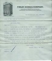 1902 Letterhead and bill for paint, Finlay, Dicks & Co., New Orleans, LA