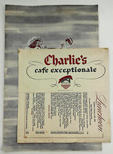 1952 Full Dinner & Lunch Menu Wine List Charlie's Cafe Exceptionale Minneapolis