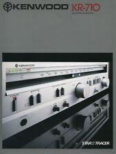 Kenwood KR-710 Original Stereo Receiver Brochure 1980
