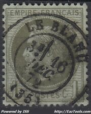 FRANCE EMPIRE N° 25 AVEC OBLITERATION DE LE BLANC DU 16/12/1872 A VOIR