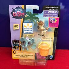 Littlest Pet Shop Pets in the City 333 Malik Creystone 334 Zenro Sandcastle
