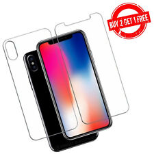iPhone X XS 3D Front & Back Film Screen Protector Double Sided Protection Clear