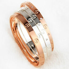 Love Bangle Cartier Inspired - Silver/Rose Gold/18k Gold Plated Titanium Bangle