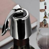 Stainless Steel Reusable Vacuum Sealed Red Wine Bottle Stopper Cap Plug 1 P C