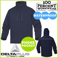 Heavy Duty Waterproof Breathable Warm Mens Parka Coat Hood Work Jacket Outdoor