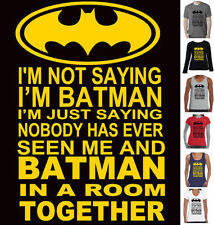 Graphic Tee Batman Solid T-Shirts for Men