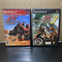 2 Game Lot-ATV Offroad Fury 1 & 3  (Sony PlayStation 2 PS2) Complete & Tested