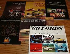 1960-1973 Ford Sales Brochure 11 Piece Lot Thunderbird Mustang 61 62 63 64 65 66