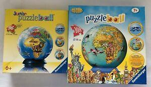 Ravensburger Globe Puzzleball Lot Of 2 96 Piece 108 Piece