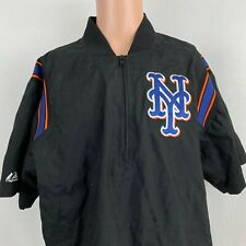 Majestic New York Mets Pullover Training Jacket MLB Authentic Baseball Sewn L