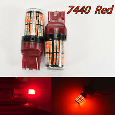 Front Turn Signal Light T20 7440 7441 992 W21W 144 Projector Red LED Bulb A1 LAX